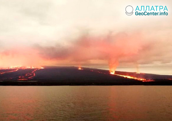 Извержение вулканов на Галапагосских островах, июнь 2018