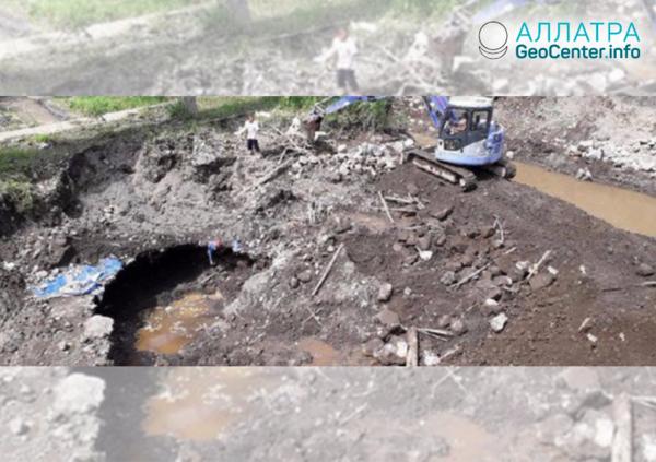 Исчезнувшая река в Индонезии и водопад в пустыне Атакама, февраль 2019