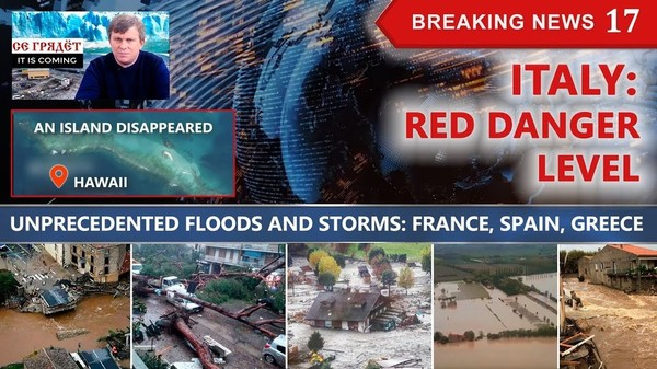 ITALY: RED DANGER LEVEL. A Hawaiian ISLAND DISAPPEARED! Floods and STORMS: France, Spain, Greece