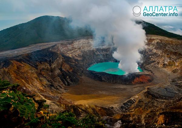Извержение вулкана в Коста-Рике, февраль 2019
