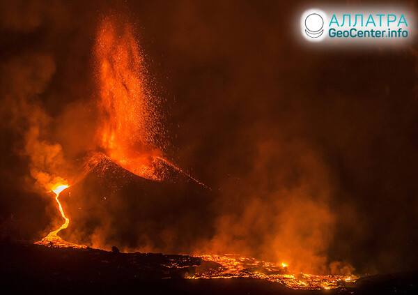 Erupcie sopiek na konci septembra 2021