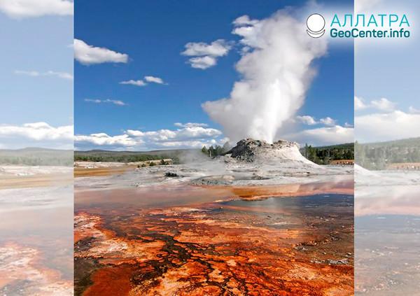 Yellowstone: zemětřesení a erupce gejzírů v dubnu 2019
