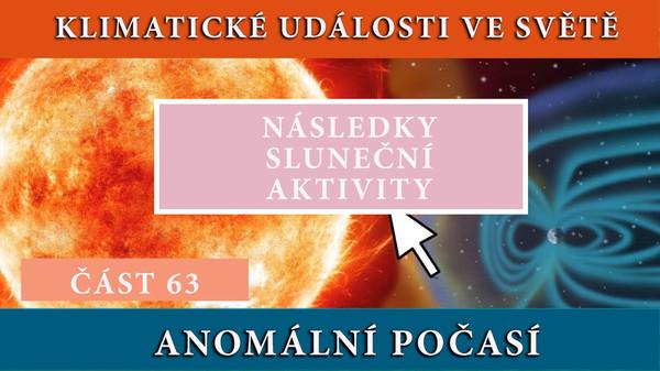 Následky sluneční aktivity. Anomální počasí. Klimatické události ve světě 13.5.-19.5.2017