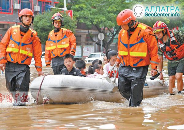 Velké záplavy v Číně, květen 2019