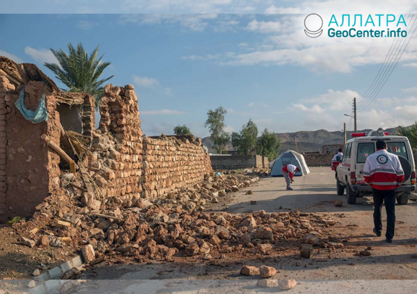 Крупное землетрясение на границе Ирака и Ирана, ноябрь 2018
