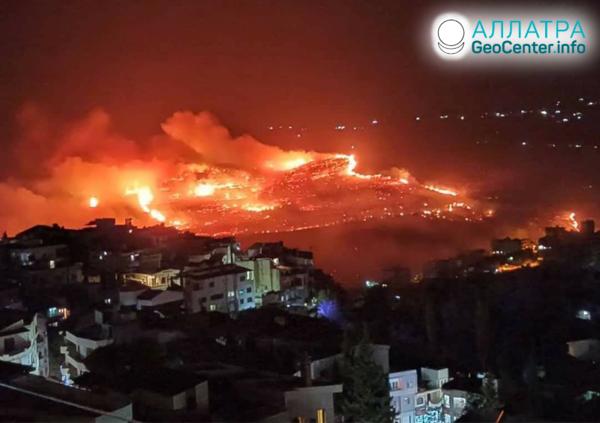 Veľké lesné požiare vo svete, október 2020
