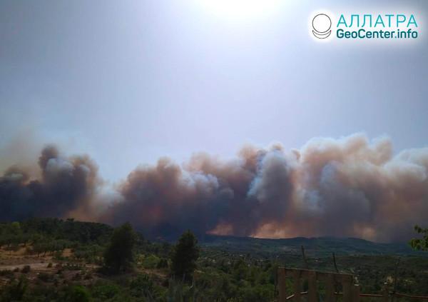 Lesný požiar v Španielsku, jún 2019