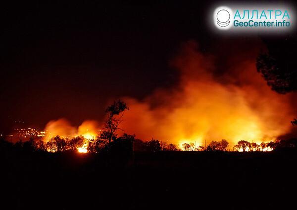 Lesné požiare, máj 2021