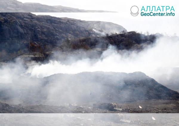 Лесные пожары на севере Европы, апрель 2019