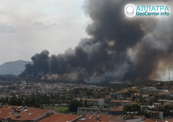 Лесные пожары в Европе, август 2020
