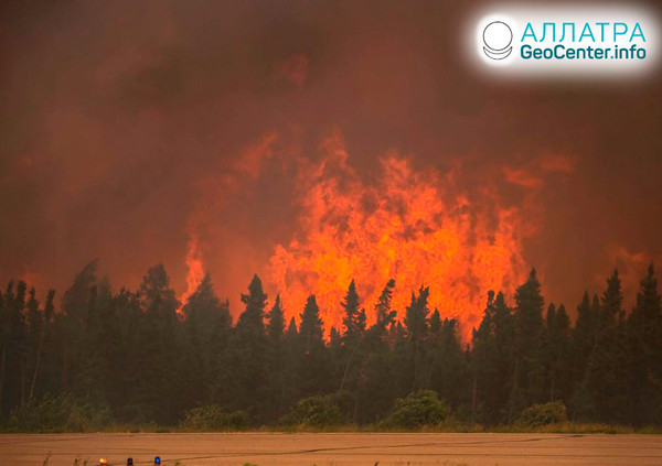 Lesní požáry v Kanadě, červen 2019