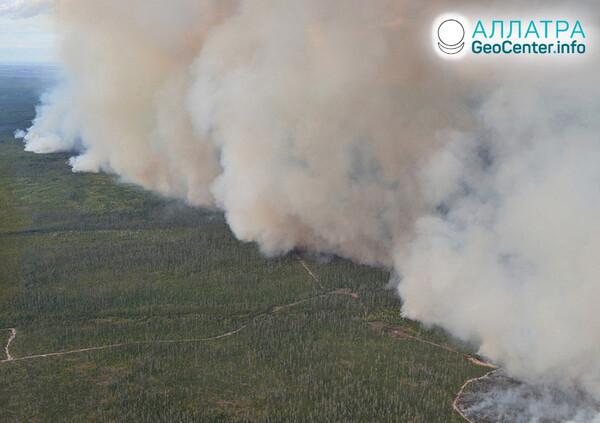 Lesné požiare na konci septembra 2021