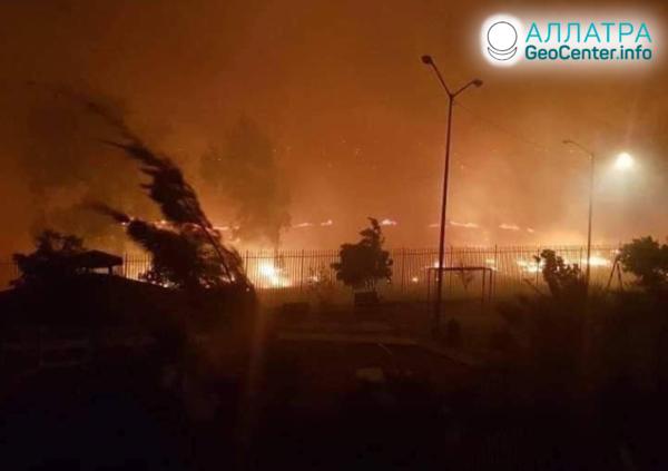 Лесные пожары в Мексике, октябрь 2019