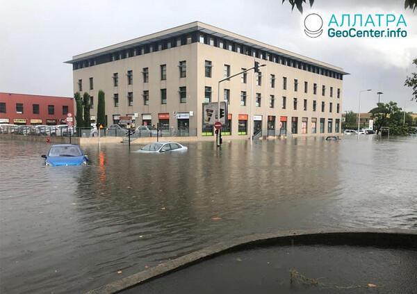Rozsiahle záplavy na konci septembra