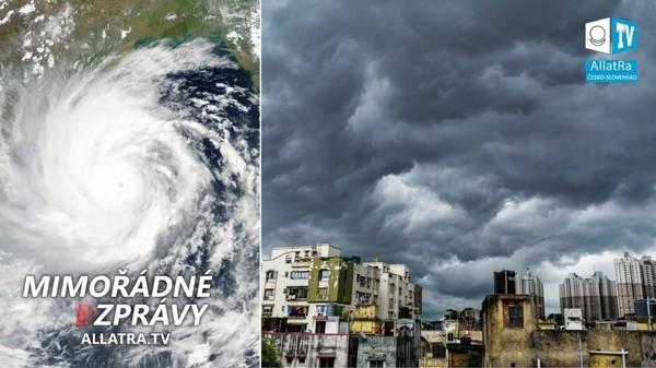 Miliony lidí v Indii strádají → Ničivý cyklón Amfán v Indii. Zemětřesení → USA, Japonsko a Čína