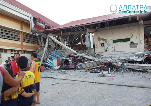 Мощное землетрясение на острове Лусон (Филиппины) 22 апреля 2019