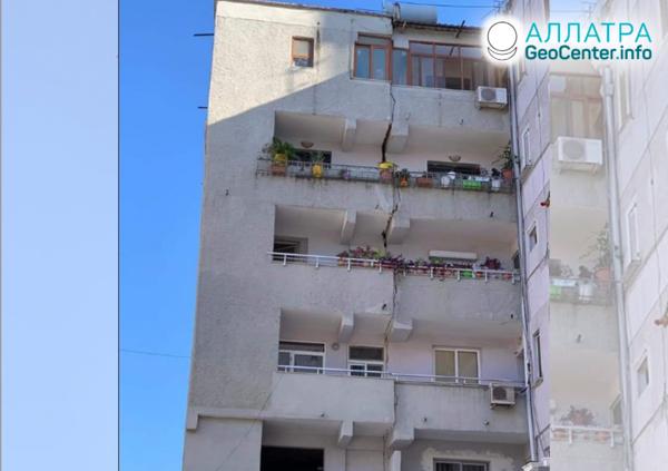 Мощные землетрясения в Албании, сентябрь 2019