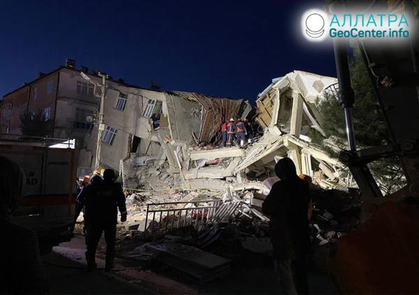 Silné zemetrasenie v Turecku, január 2020