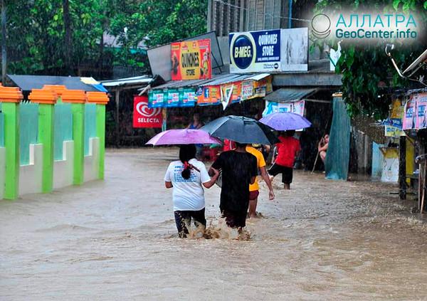 Наводнение на филиппинском острове, январь 2019
