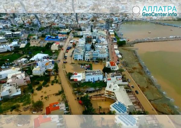 Záplava na ostrově Kréta (Řecko), duben 2019