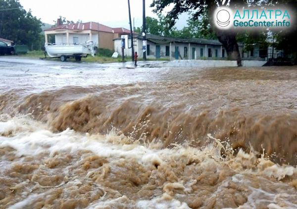 Наводнение в Греции, апрель 2020