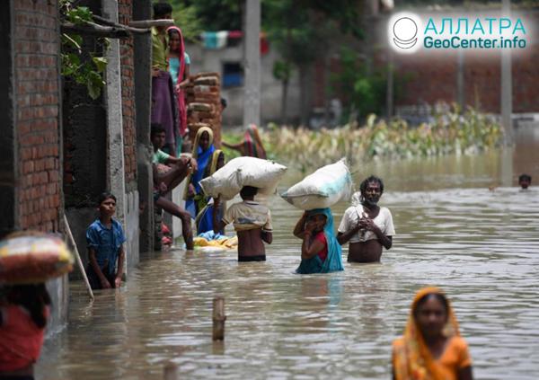 Наводнение в Индии, июль 2019