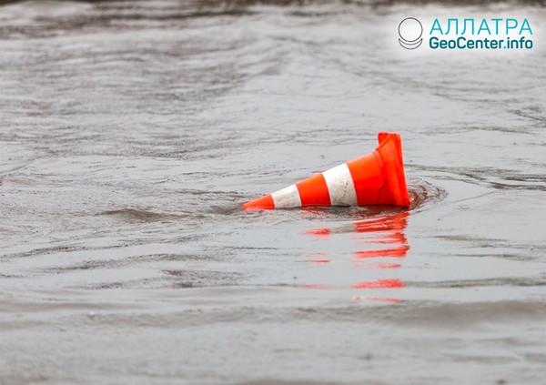 Наводнение в Иордании, март 2019
