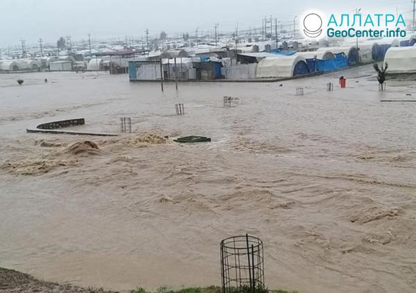 Наводнение в Ираке, март 2020
