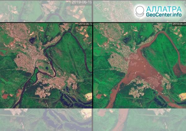 Záplavy v Irkutskej oblasti (Rusko), jún 2019