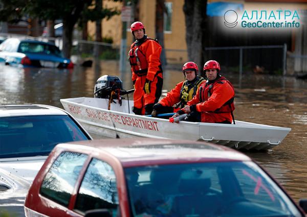 Záplavy v Kalifornii, február 2019