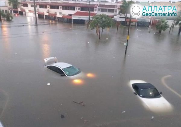 Záplavy v Mexiku, november 2019