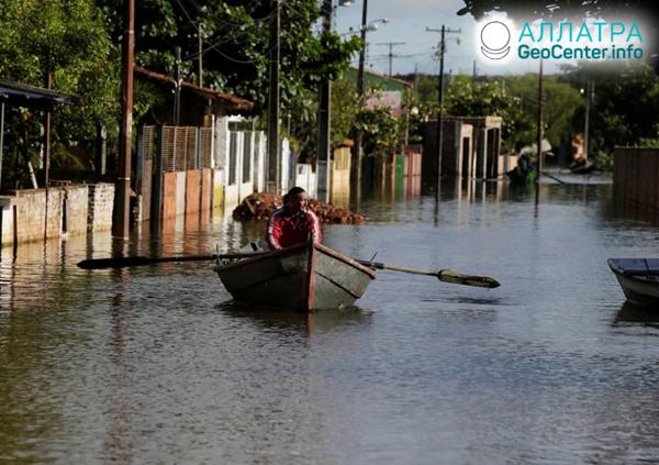 Záplavy v Paraguayi, květen 2019