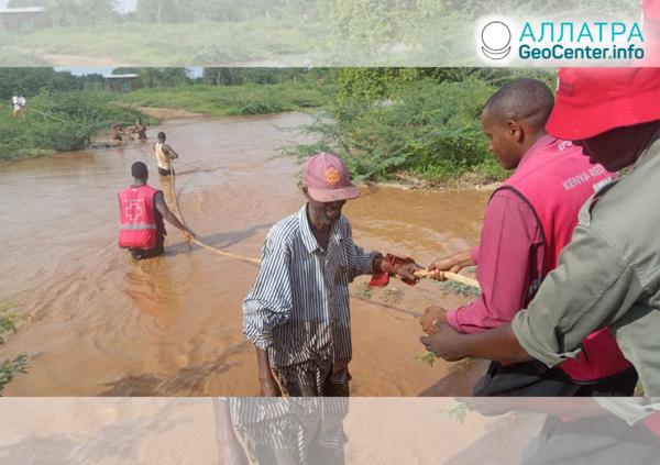 Záplavy a zosuvy v Keni, november 2019