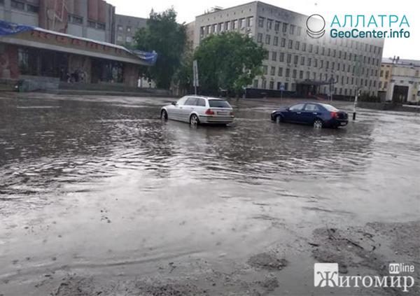 Záplavy a uragán na Ukrajině, květen 2019