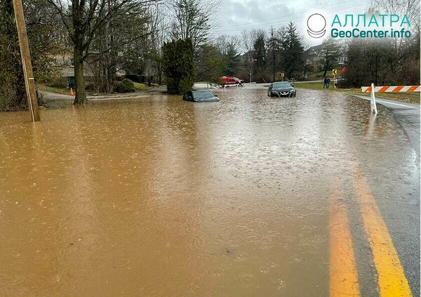 Záplavy, začiatok marca 2021
