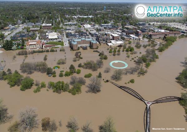 Наводнения в Центральной и Северной Америке, май 2020