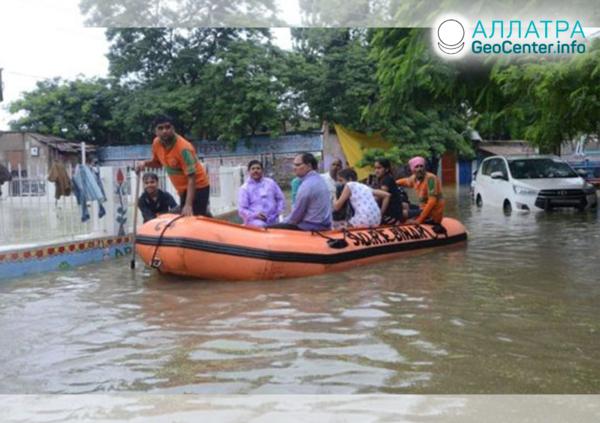 Záplavy v Indii, september 2019