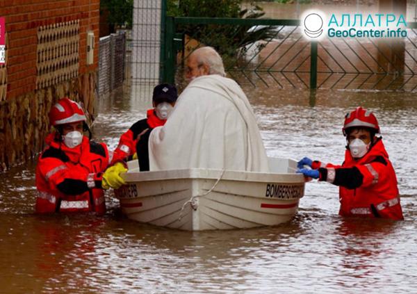 Záplavy v Španielsku, apríl 2020