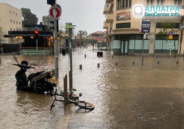 Záplavy v Izraeli, január 2020