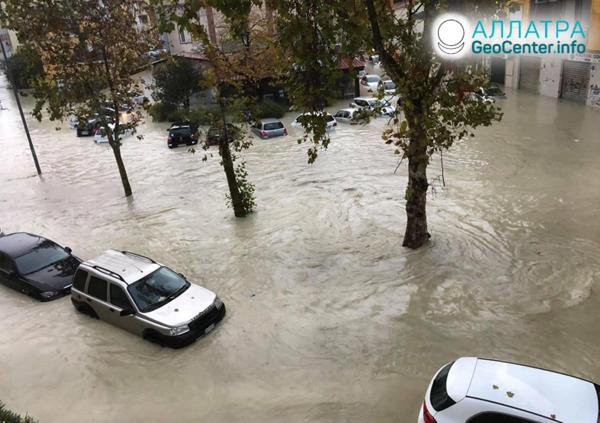 Záplavy v krajinách sveta, november 2020