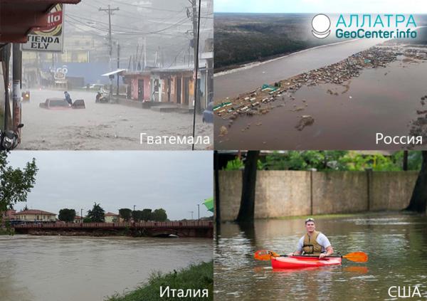 Záplavy v krajinách sveta. Prvá polovica mája 2019