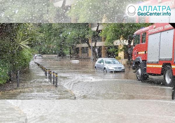 Непогода на Кипре, сентябрь 2019