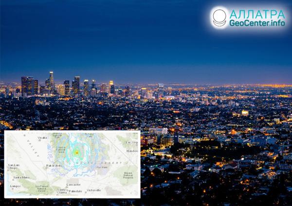 Новое землетрясение в Калифорнии (США), август 2019
