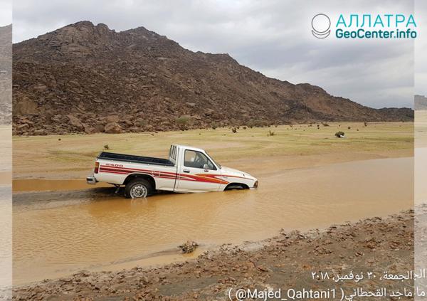 Очередное наводнение в Саудовской Аравии, ноябрь-декабрь 2018