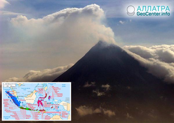 Около 20 вулканов Индонезии проявляют беспокойство, декабрь 2018