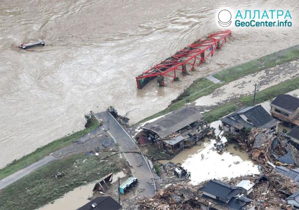 Zosuvy a záplavy, začiatok júla 2020