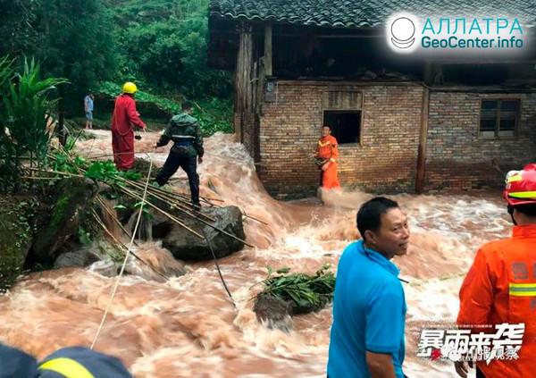 Zosuvy a záplavy v krajinách sveta, august 2020