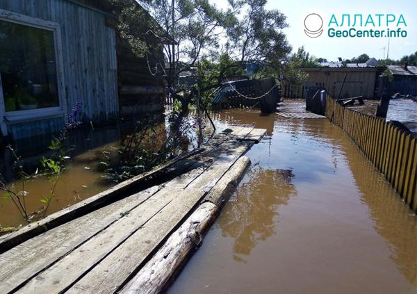 Povodne v Permskom kraji Ruska, júl 2019