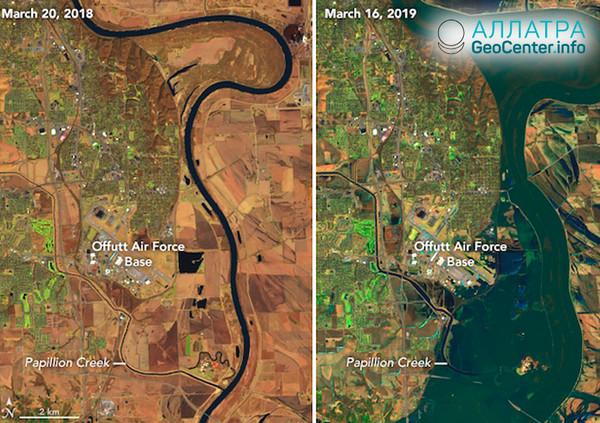 Povodeň v USA, březen 2019
