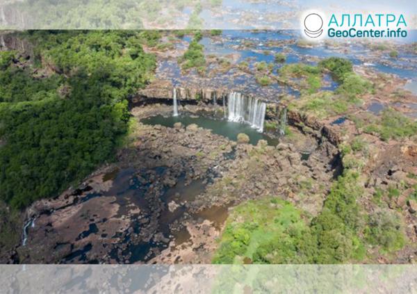 Пересыхание крупных водопадов, апрель 2020